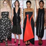 Jessica Chastain, Jennifer Hudson, Alexa Chung & Jasmine Tookes in Prabal Gurung at the 2016 CFDA Fashion Awards