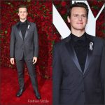 Jonathan Groff in Calvin Klein  at the 70th Annual Tony Awards