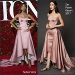 Jourdan Dunn in Zac Posen  at the 70th Annual Tony Awards