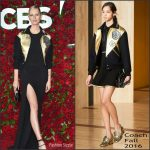 Karolina Kurkova In Coach at the 70th Annual Tony Awards