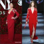 Keri Russell in Monique Lhuillier at the 70th Annual Tony Awards