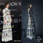 Lizzy Caplan in Erdem at the 'Now You See Me 2' New  York  Premiere