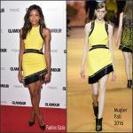 Naomie Harris in Mugler at the 2016 Glamour Women of the Year Awards