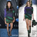 Nina Dobrev in Versace at Elle`s Women in Comedy Event