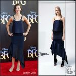Rebecca Hall in Dion Lee at 'The BFG' LA Premiere