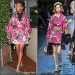 Rihanna in  Dolce & Gabbana – Giorgio Baldi Restaurant  In LA
