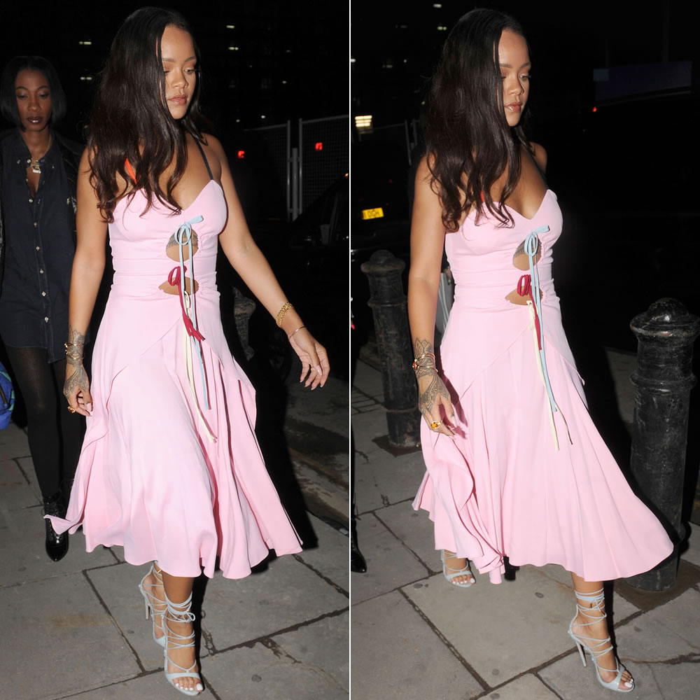 rihanna-rosie-assoulin-pink-cutout-dress