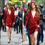 Selena Gomez In Balmain  Out in New York