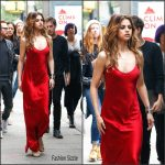 Selena Gomez in Nili Lotan  slip dress – Out In New York