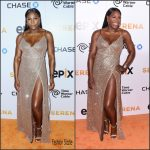Serena Williams in LaQuan Smith at the 'Serena' New York Premiere