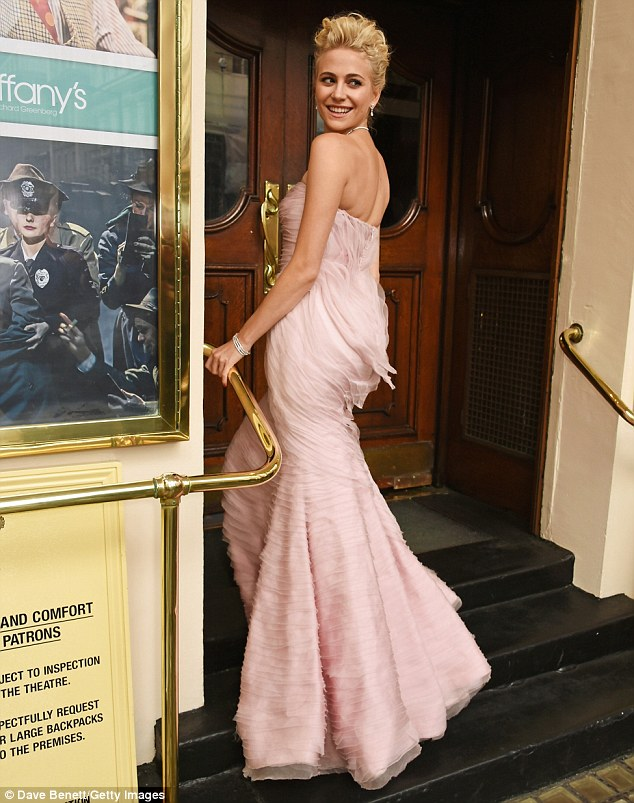 pixie-lott-in-luisa-beccaria-at-breakfast-at-tiffanys-press-night