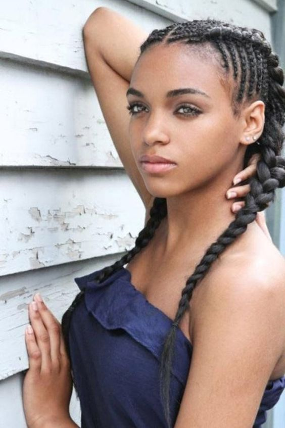 black -braided- hairstyles- to -wear
