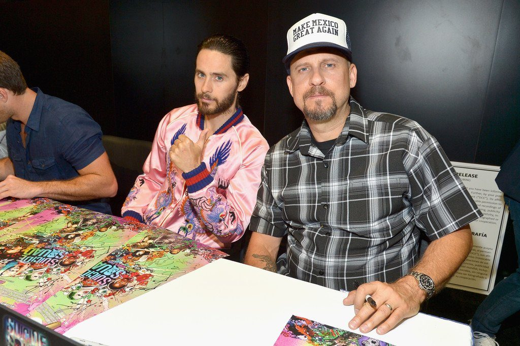 Jared-Leto- In-Gucci- at- Suicide -Squad -at -Comic -Con