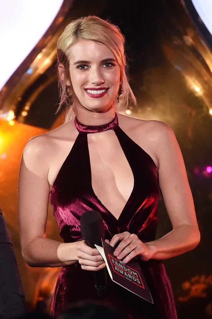Emma Roberts In Fleur Du Mal At Mtv Fandom Awards During