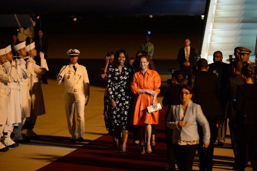 Michelle-Obama-Floral-Dress-Morocco-June-2016