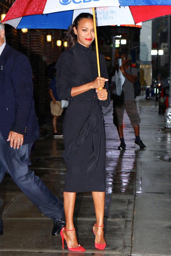 Zoe-Saldana-Style-Tripe-Shot-Fashion-TV-Style-The-View-Stephen-Colbert-Good-Morning-America-Oscar-de-la-Renta-Victoria-Beckham-