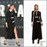 Alexa Chung in Alessandra Rich at The Legend of Tarzan London Premiere