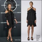 Alicia Vikander  In Proenza Schouler at Jason Bourne Madrid Photocall