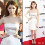 Anna Kendrick in Calvin Klein Collection at  'Mike and Dave Need Wedding Dates' LA Premiere