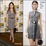 Anna Kendrick in Christopher Kane  at Trolls press line during  Comic Con