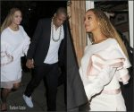Beyonce  celebrates with  Jay Z after  Wembley Stadium  Show