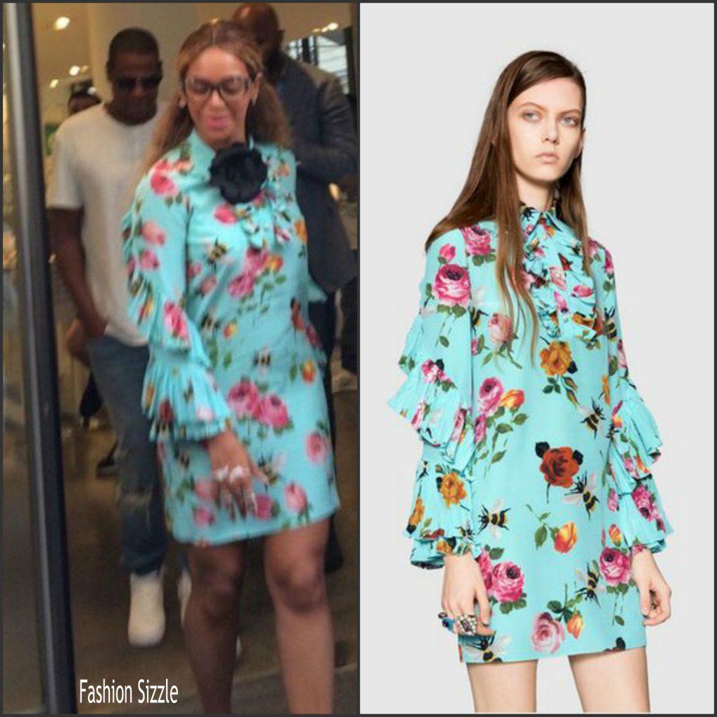 1a9b8e22 Beyonce in Gucci leaving the Paris boutique Colette - Fashionsizzle