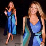 Blake Lively in  Diane Von Furstenberg Leaving The Crosby Hotel