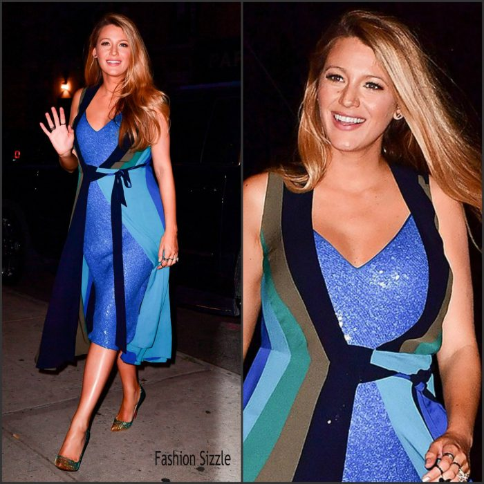 Blake Lively  was spotted in  New York  leaving The Crosby Hotel   for promotions for her latest film.