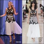 Blake Lively in Emanuel Ungaro  at The Jimmy Fallon Show
