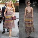 Blake Lively  In  Valentino  at Live with  Kelly promoting Cafe Society