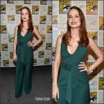 Brie Larson  In Gabriela Hearst at  Captain Marvel Press line at Comic Con