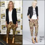 Cara Delevingne in DSQUARED2  at press line during Comic Con