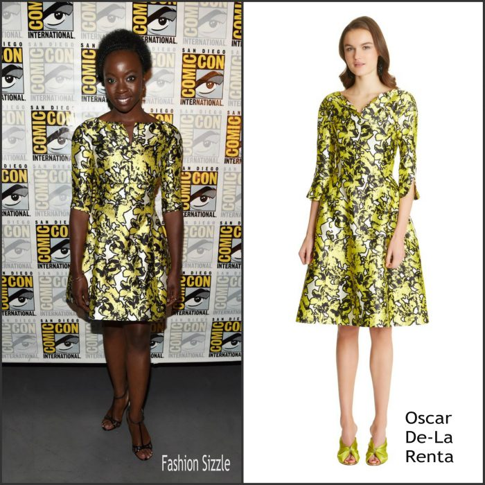 Danai Gurira   was in attendance along   Lupita Nyong'o,with Danai Gurira, Chadwick Boseman, and Chadwick Boseman at the panel for Black Panther during 2016 Comic-Con on Saturday (July 23) in San Diego, Calif.