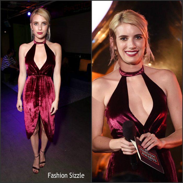 Emma Roberts attended 2016 MTV Fandom Awards held at PETCO Park on Thursday night (July 21) in San Diego, Calif.