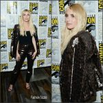 Emma Roberts  In Mulberry at  Scream Queens Panel at Comic Con