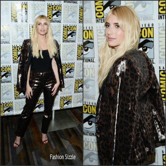 "Actress Emma Roberts attendedthe ""Scream Queens"" press line during Comic-Con International at Hilton Bayfront on July 22, 2016 in San Diego, California."