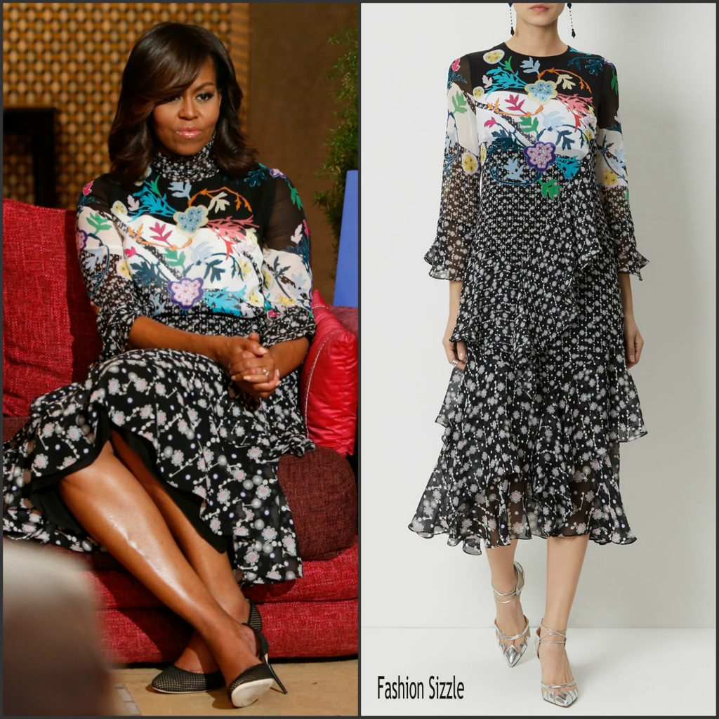 First Lady Michelle In Peter Pilotto Morocco
