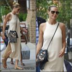 Heidi Klum in Elizabeth & James Arriving at The Greenwich Hotel