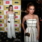 Holland Roden In Christian Siriano at  IMD Boat Party at  Comic Con