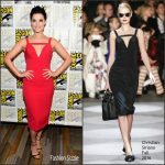 Jaimie Alexander  In Christian Siriano at Blindspot Press line at Comic Con