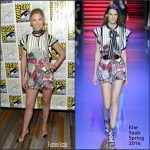 January Jones in Elie Saab at Last Man On Earth Press line at Comic Con
