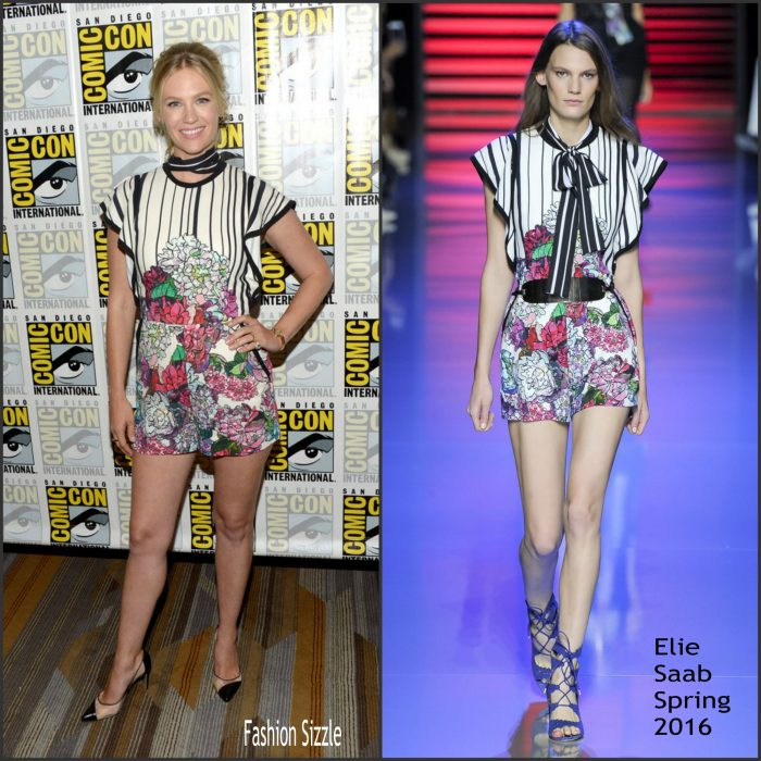 "Actress January Jones attended the ""The Last Man On Earth"" press line during Comic-Con International on July 23, 2016 in San Diego, California."