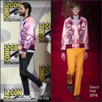 Jared Leto  In Gucci at Suicide Squad at  Comic Con