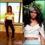 Laverne Cox in Leanne Marshall at 'Live with Kelly'