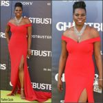 Leslie Jones in Christian Siriano at the Ghostbusters LA Premiere