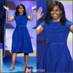 Michelle Obama in Christian Siriano at  2016 Democratic National Convention