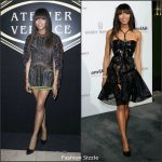 Naomi Campbell in Atelier Versace at the Atelier Versace F/W 2016 Paris Show & the 2016 amfAR Dinner