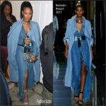 Rihanna  in  Balmain Out In London at Tape Nightclub