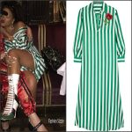 Rihanna wears  Dolce & Gabbana Dress in Milan
