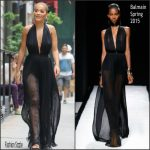 Rita Ora in Balmain  at  the America's Next Top Model Set